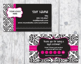 Direct Sales Business Card - Ribbon Design