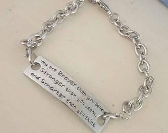 Winnie the pooh quote bracelet
