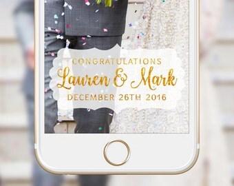 Wedding Snapchat Geofilter Wedding Snap Chat Filter Elegant Script Frame Png Custom Geofilter