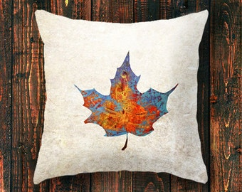 Canada Day, Canadian pillowcase, leaves, leaf nature, maple leaf pillow, nature pillow cover, cushion cover, gift for him,, gift idea