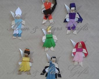 FAIRY Inspired Ribbon Sculptures! Hair Clip Accessory/Tie/Pin Disney Tinkerbell Tink Fawn Vidia Rosetta Silvermist Periwinkle Iridessa