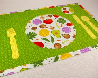 Montessori Inspired Child's Placemat - Veggies Place-setting Placemat
