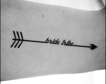 Bachelorette tattoos bachelorette party tattoos bride tribe tattoos temporary tattoos