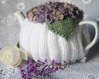 Lilac Hues Hydrangea Tea Cosy