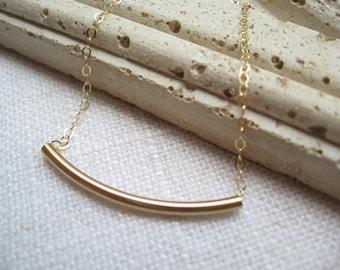 Gold Tube, Tube Necklace, Minimalist Necklace, Minimalist Jewelry, Dainty Tube Necklace, Gold Necklace, Gold Tube Necklace, Minimalist charm
