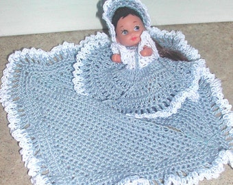 Crochet Fashion Doll Krissy Pattern- #530 KRISSY IN BLUE