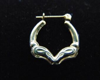 Womens Vintage Estate 14k Yellow Gold Single Earring .6g #E2388