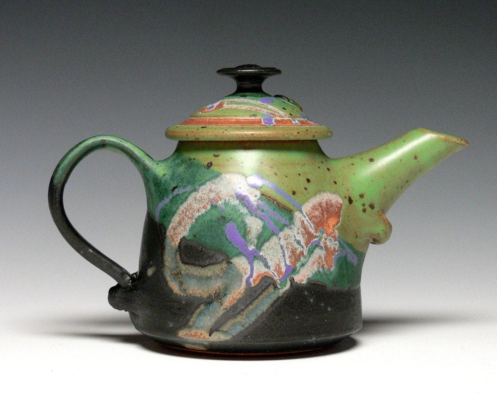 Small Pottery Teapot Stoneware Teapot Ceramic Teapot Hand