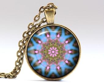 Mandala jewelry Boho necklace Indie pendant OWA417