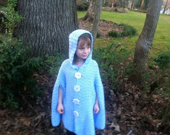 Child Winter Hooded Cloak/Cape