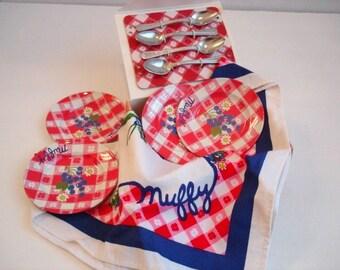 Muffy VanderBear Collection Picnic Basket Set 1992-1996