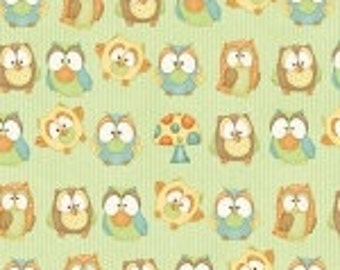 Henry Glass Hoot Hoot Hurray Fabric   6503