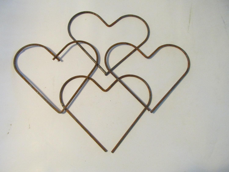 metal cutout heart scrap metal art wall by fifthavenueantiques. Black Bedroom Furniture Sets. Home Design Ideas