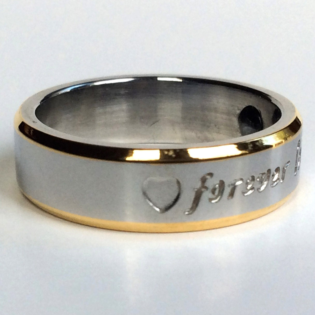 Mens Ring Heart Shaped Ring Custom Ring Personalized Ring