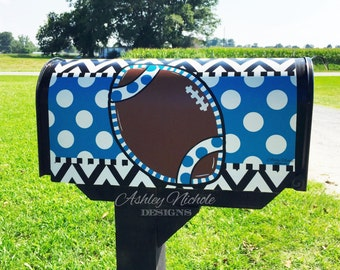 Football Magnetic Mailbox Cover, Team Magnetic Mailbox Cover, Mailbox