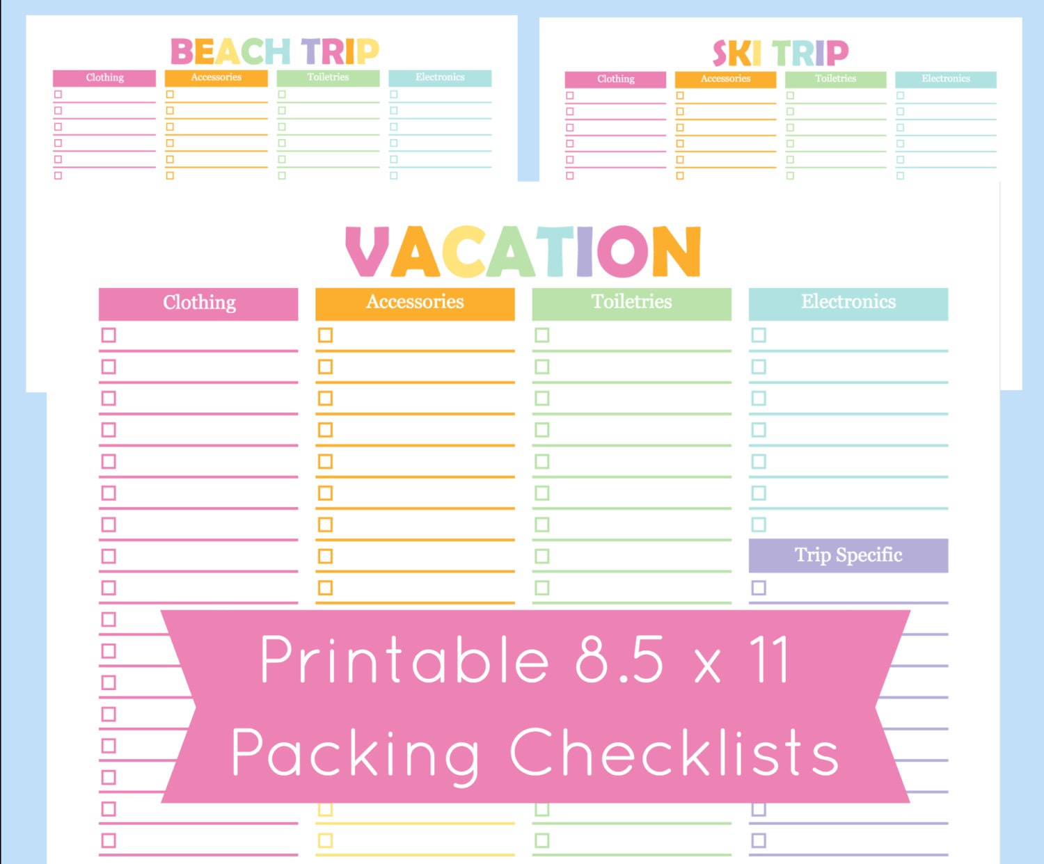 Printable packing checklist printable packing list for the zoom pronofoot35fo Image collections