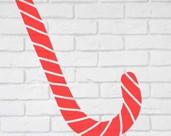 Candy Cane  Decal Stickers   - 2 to 19 inches high  Large Wall Art