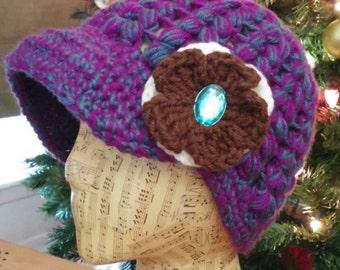 "Crochet ""Riley"" Newsboy Style Cap"