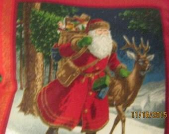 CHRISTMAS PILLOWS Both Sides SANTAS