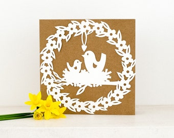 Personal Licence - Cute Mothers Day Template Birds Nest