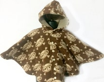 Baby Shower Gift - Infant Car Seat Poncho - Toddler Car Seat Poncho - Baby Car Seat Poncho - Car Seat Poncho for Boy -  Hooded Fleece Poncho