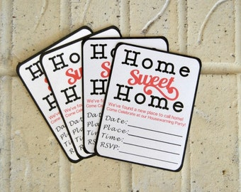 PDF: Home Sweet Home Housewarming Party Invitations - Instant Download