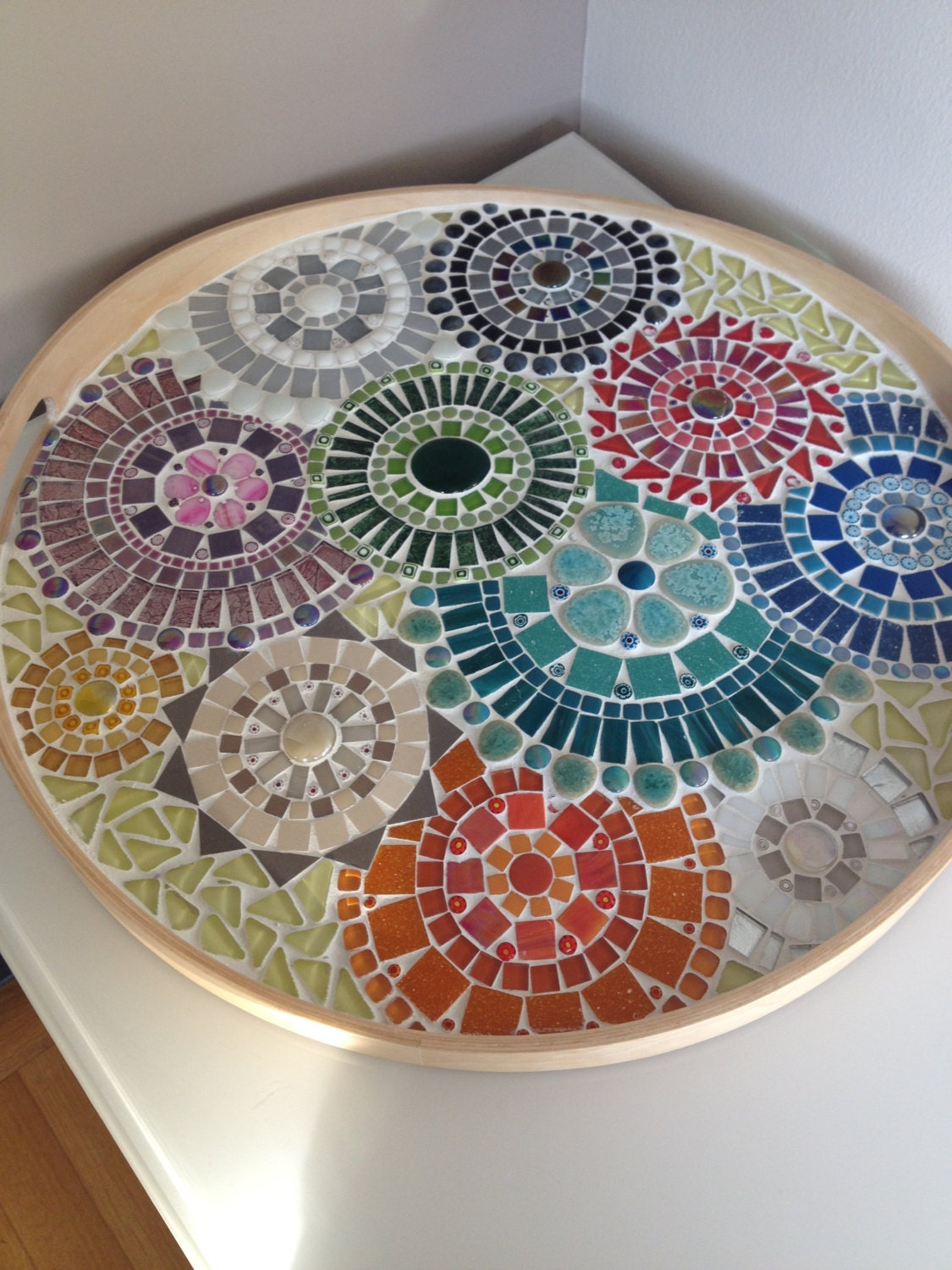 Mosaic Design Bowlhandcrafted Mosaic Tray Mosaic Art Home