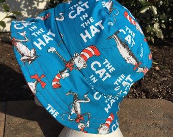 Cat in the Hat Dr Seuss Reversible Bucket hat. Bucket hat. Sun Hat. Beach hat.