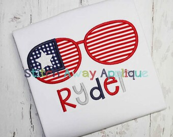 Patriotic Sunglasses Onesie or toddler shirt