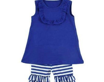 Dark blue Tank/short outfit Size 12(11-12year)