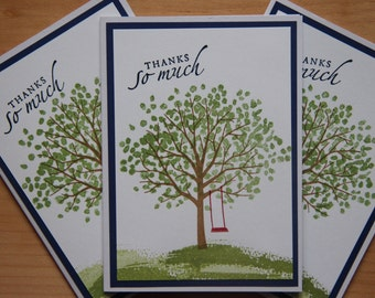3 Thank You Greeting Cards.  Thank You Card Set.  Tree Thank You Cards. Blank Thank You Card.Thank You Note Cards. Tree Thank You Note Cards