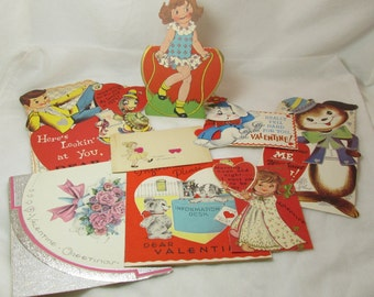 Lot of 9 Vintage Valentine Cards from the 1970's. 125-557.*FREE SHIPPING*