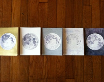 5-Pack Hand Painted Greeting Cards