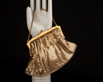 Whiting & Davis Gold Mesh Evening Bag, 1940s/50s