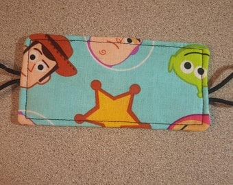 Nursery Door Muff Silencer Jammer Latch Cover / Pixar toy Story Woody Buzz Lightyear / Baby Boy Shower Gift