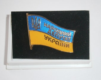 "Badge ""National deputy Of Ukraine"" New"