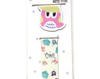 Magnetic owl bookmark