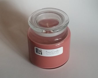 16oz Apothecary Gingerbread candle with flat lid