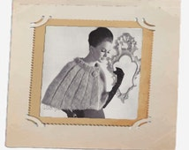 Vintage Cape knitting pattern in PDF instant download version