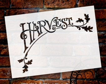 Harvest Arching Word Art Stencil - Select Size - STCL685 - by StudioR12