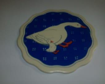 Vintage 6 inch decorative duck tile