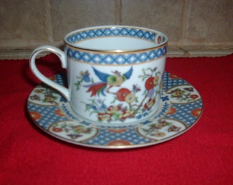 Vintage  Japan China Garden Fine Porcelain coffee cup and saucer