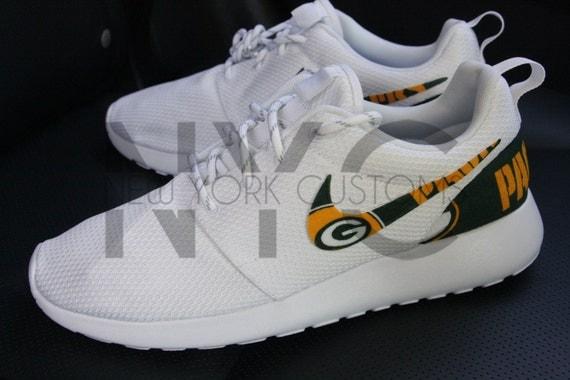 factory authentic fae4b 2f9bc good Green Bay Packers Nike Roshe One Run Triple White Football