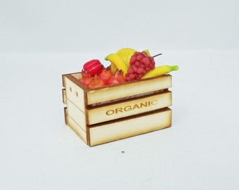 Organic Crate filled with Fruit 1