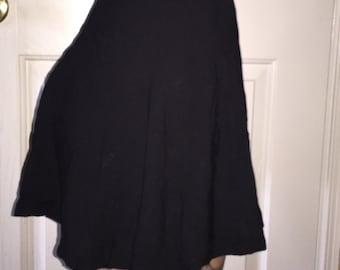 Sassy Black Circle Skirt