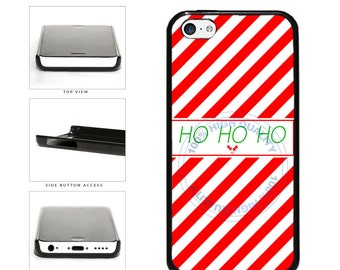 Candy Cane HOHOHO Phone Case - iPhone 4 4s 5 5s 5c 6 6 Plus 7 iPod Touch