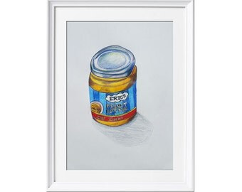 "Original pencil drawing ""Eric's Peanut Butter creamy"""