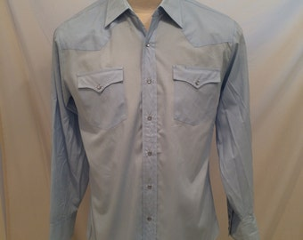 70s Roebucks vintage cowboy shirt, size 16-16.5, Worn tag