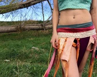 Tattered gypsy skirt// music festival skirt // music festival accessories // lace fairy skirt// flowy hippie skirt// hippie skirt