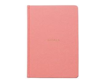 Goals Book - A5 Hard Cover Coral